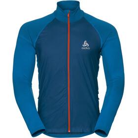 Odlo Velocity Element Jacket Men blue opal/orangeade